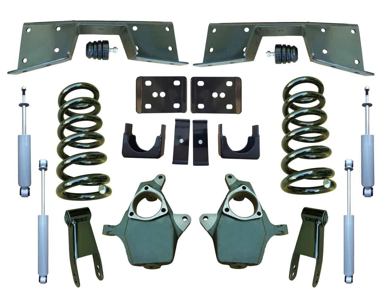 Complete 4/7 Lowering Kit for 99-00 GMC Sierra