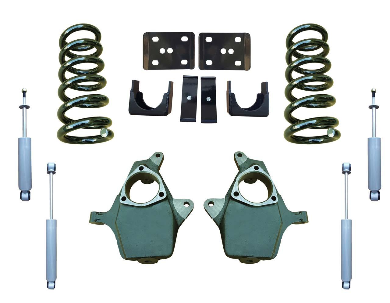 99-06 Chevrolet Silverado 5/6 Drop Kit Coil Springs and Drop Shocks
