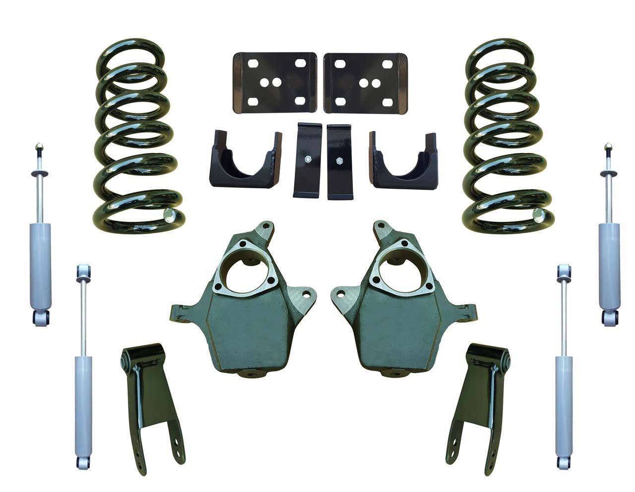 99-06 Chevrolet Silverado 5/7 Drop Kit Coil Springs and Drop Shocks