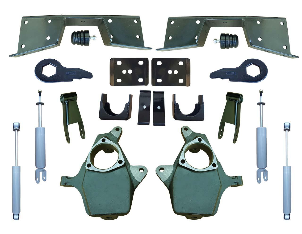 Complete 4-5/7 Lowering Kit for 01-06 Silverado / Sierra 4WD