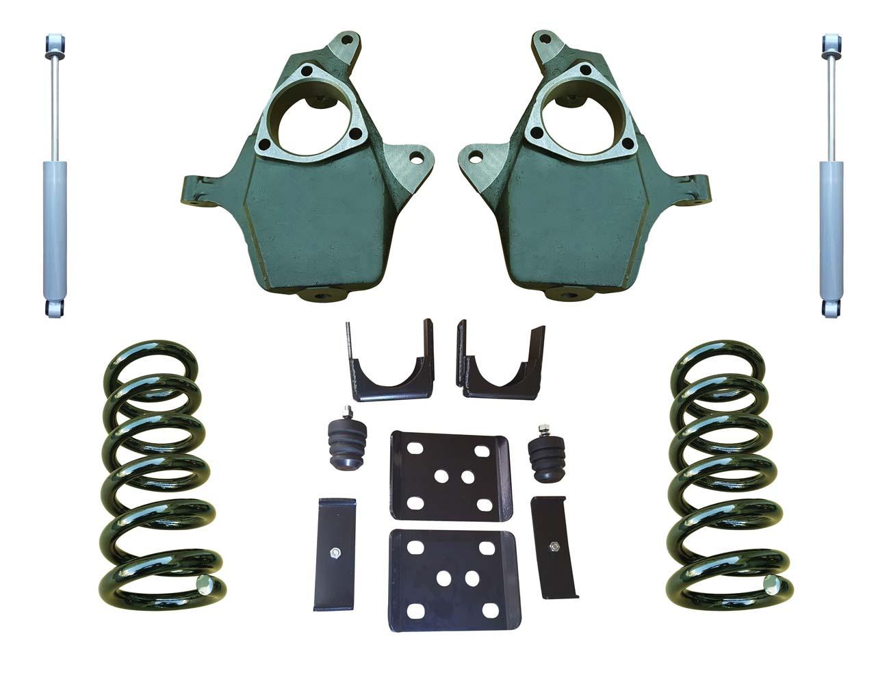 "07-13 Chevrolet Silverado 4""/7"" Drop Kit with Shocks"