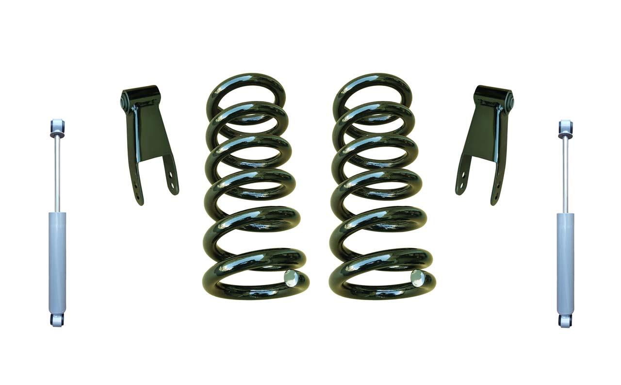 "2014+ Chevrolet Silverado 2"" Coil Spring Drop Kit with Shocks"