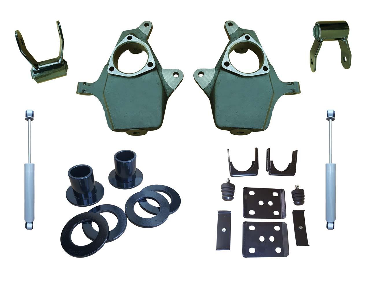"""2014+ GMC Sierra 3-4""""/6"""" Adjustable Lowering Kit"""