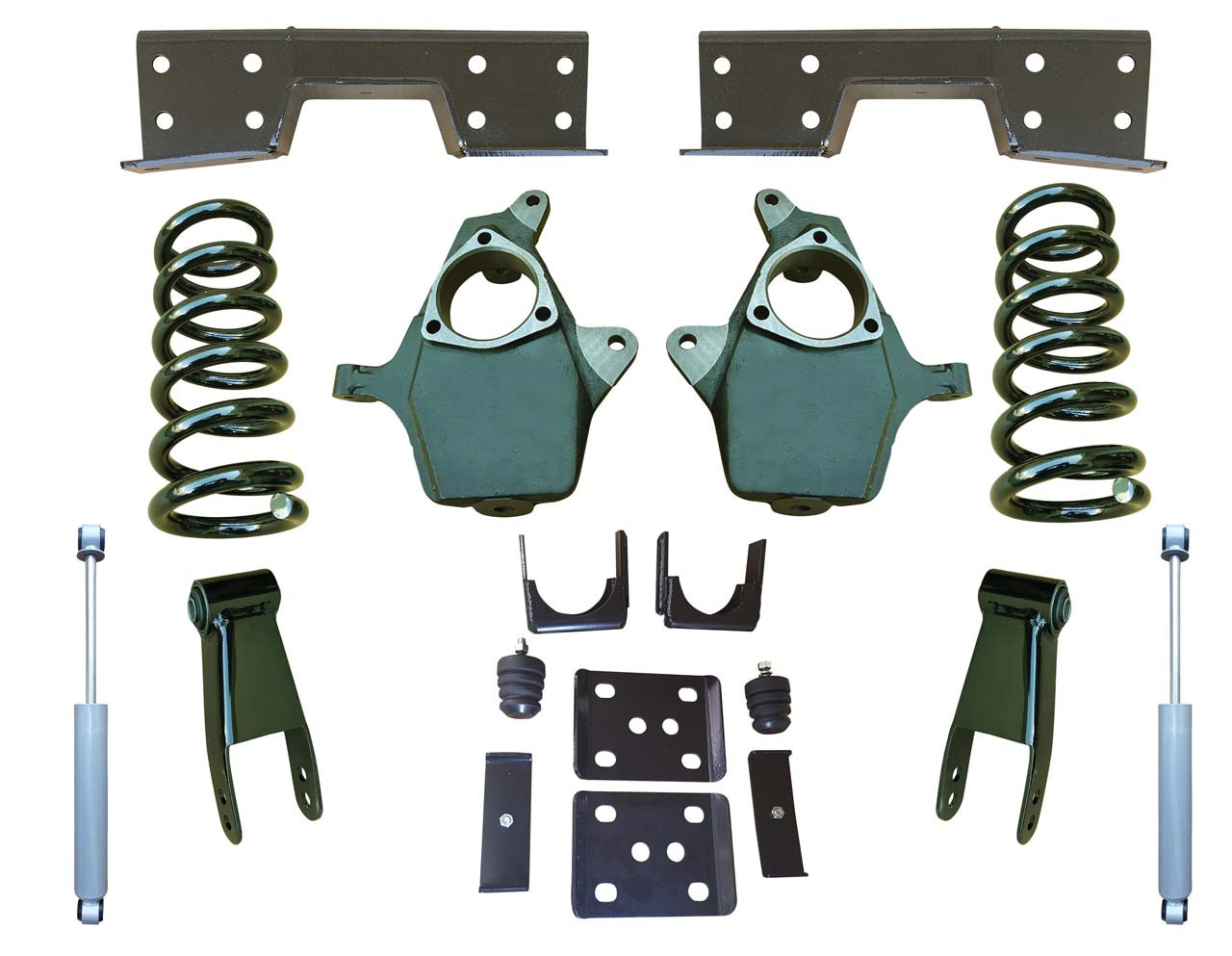 "Complete 4""/8-9"" Lowering Kit for 2014+ GMC Sierra 1500"