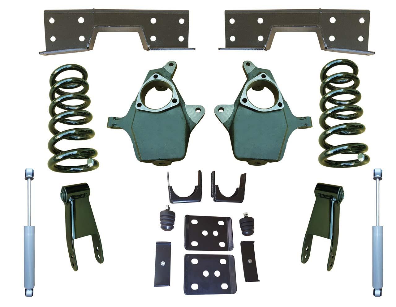 """Complete 5""""/8-9"""" Lowering Kit for 2014+ GMC Sierra 1500"""