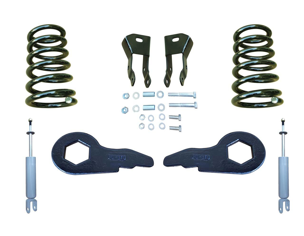 "00-06 Chevrolet / GMC SUV Models 2""/4"" Drop Kit with Shocks, Extenders"