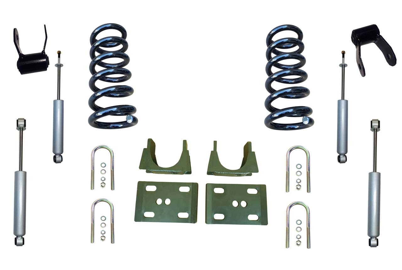 "94-01 Dodge Ram 1500 (2WD V8 Regular Cab) 3"" / 5"" Drop Kit with Shocks"