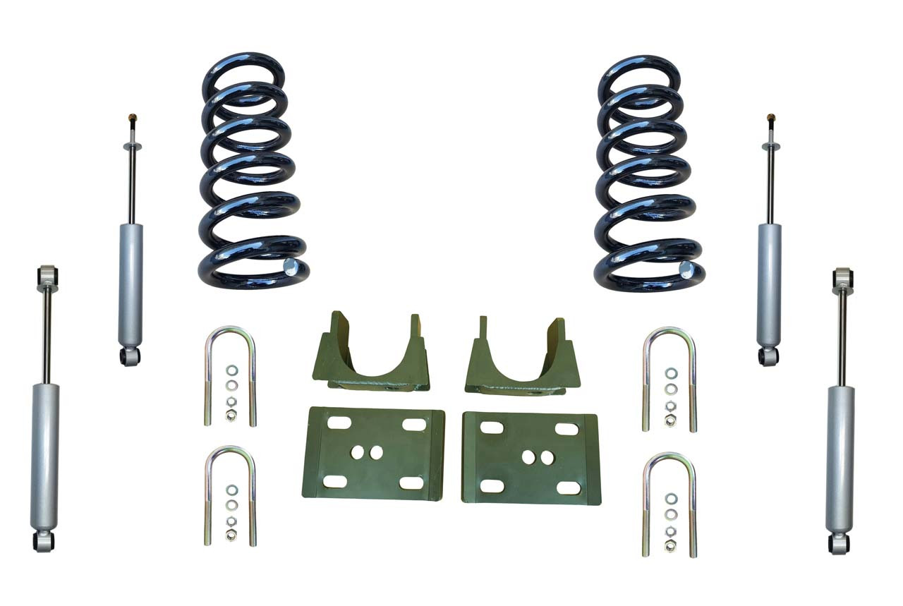 "94-01 Dodge Ram 1500 (2WD V6 Extended Cab) 3"" / 6"" Drop Kit with Shocks"