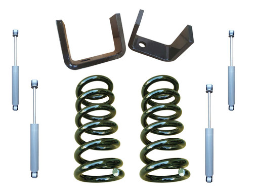 3/5 Lowering Kit (Coils) with Drop Shocks for Chevy C10 GMC C15 Trucks