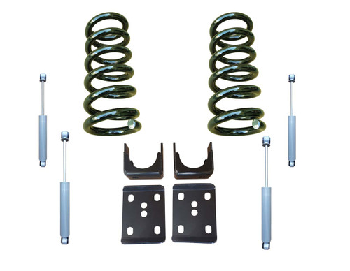 3/6 Lowering Kit (Coils) with Drop Shocks for Chevy C10 GMC C15 Trucks