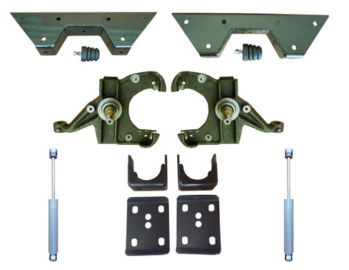 Complete 3/6 Drop Spindle Lowering Kit for Chevy C10 GMC C15 Trucks