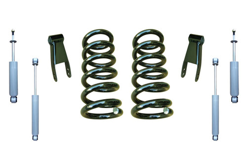 2in Lowering Coil Drop Kit and Drop Shocks for 88-91 C1500 Std Cab