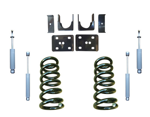 3/6 Lowering Coil Drop Kit and Drop Shocks for 88-91 C1500 Std Cab