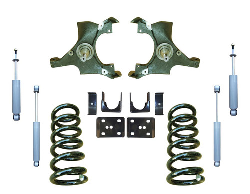 4/6 Drop Spindle Lowering Kit and Drop Shocks for 88-91 C1500 Std Cab