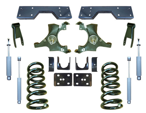 Complete 4/7 Drop Spindle Lowering Kit for 88-91 C1500 Std Cab