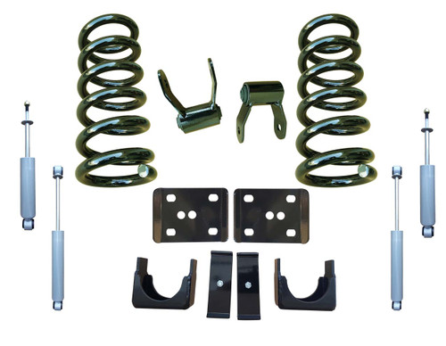 99-06 Chevrolet Silverado 3/5 Drop Kit Coil Springs and Drop Shocks