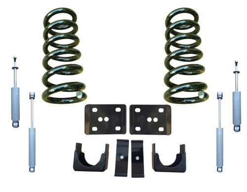 99-06 Chevrolet Silverado 3/6 Drop Kit Coil Springs and Drop Shocks
