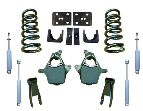99-06 GMC Sierra 4/7 Drop Kit Coil Springs and Drop Shocks