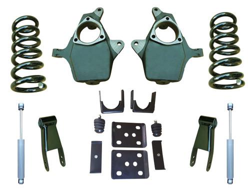 "07-13 Chevrolet Silverado 4""/8-9"" Drop Kit with Shocks"