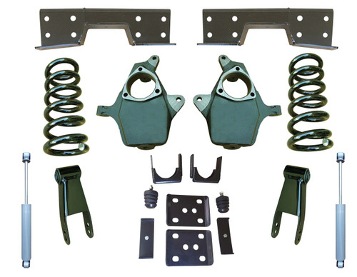 "Complete 4""/8-9"" Lowering Kit for 07-13 Chevrolet Silverado 1500"