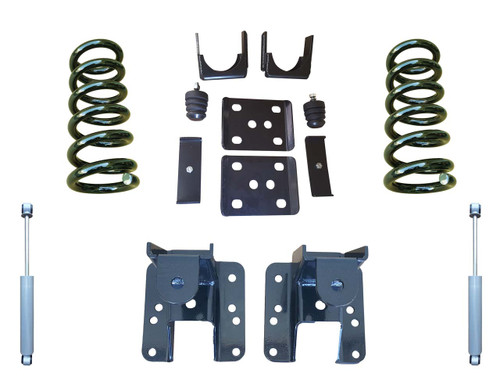 2014+ Chevrolet Silverado 3/5 to 3/6 Adjustable Drop Kit with Shocks