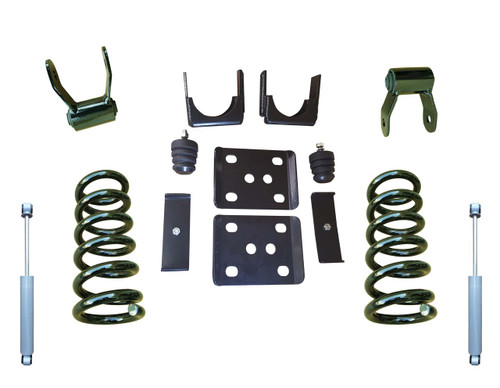 "2014+ Chevrolet Silverado 3""/6"" Drop Kit with Shocks"