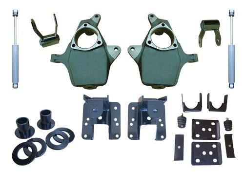 "2014+ Silverado / Sierra Adjustable 3""-4"" /  5""-6""  Drop Kit with Shocks"