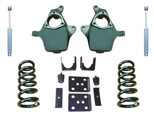 "2014+ Chevrolet Silverado 4""/7"" Drop Kit with Shocks"