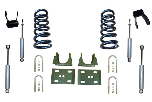 "94-01 Dodge Ram 1500 (2WD V6 Extended Cab) 3"" / 5"" Drop Kit with Shocks"