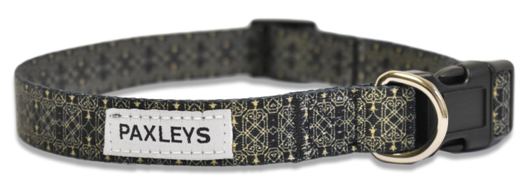 Black and Gold Deco Dog Collar