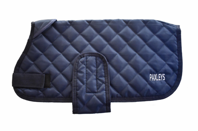 Paxleys Luxury Diamond Navy Quilted Dog Coat