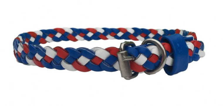 Paxleys Red White and Blue Triple Woven Stretch Collar