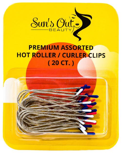 Premium Assorted Replacement Hot Roller Clips - Curler Clips - Regular Set (20 count)