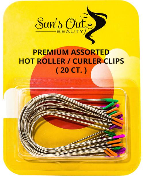Premium Assorted Replacement Hot Roller Clips - Curler Clips - Jumbo Set (20 count)