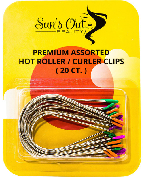 Premium Assorted Replacement Hot Roller Clips - Curler Clips - Jumbo Set (20 count)