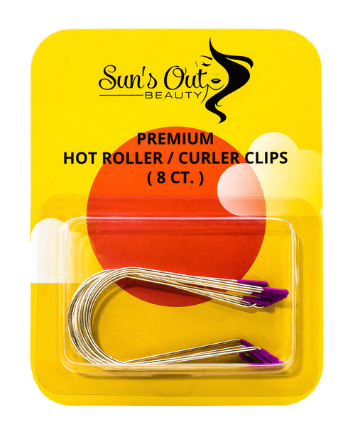"""Premium Replacement Hot Roller Clips / Curler Clips - 1 3/8"""" Purple Tips (8 count)"""