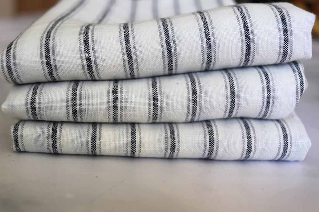 Tea Towels Set of Three 100% Linen