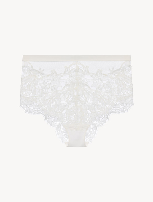 Off-white high-waisted briefs
