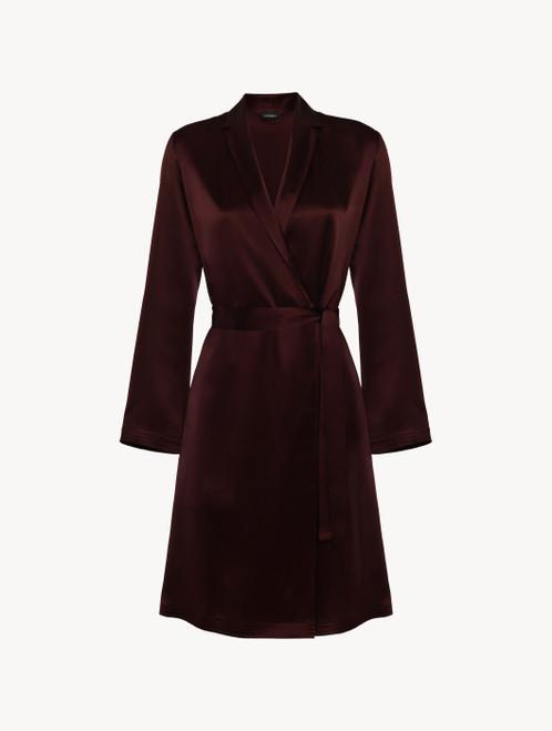 Bordeaux silk short robe