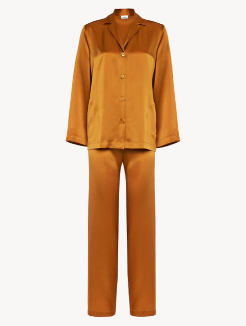 Topaz yellow silk pyjamas