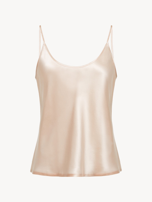 Camisole in blush pink silk