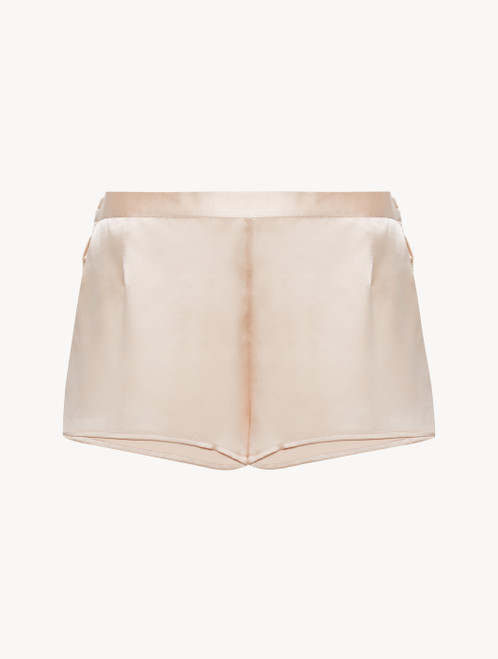Shorts in blush pink silk