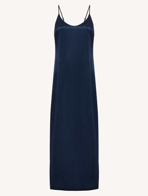 Nightdress in navy blue silk