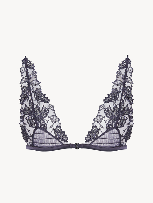 Triangle Bra in violet embroidered tulle