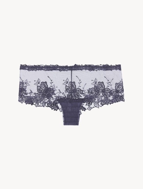 Hipster Brief in violet embroidered tulle