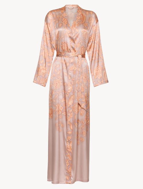Robe in pink silk satin