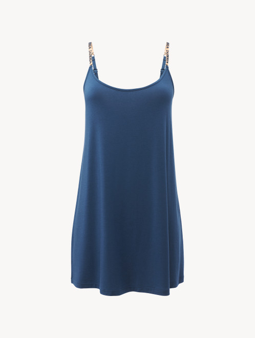 Slip Dress in blue modal silk jersey