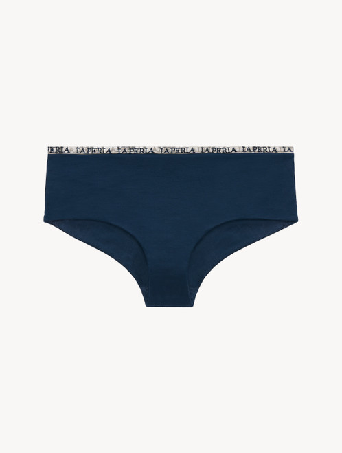 Hipster Briefs in blue rayon