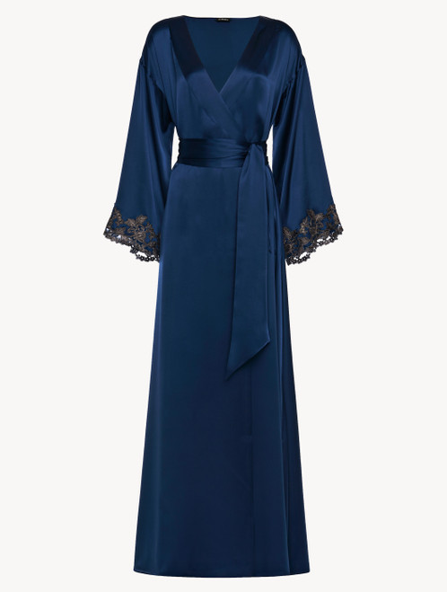 Blue long robe with frastaglio