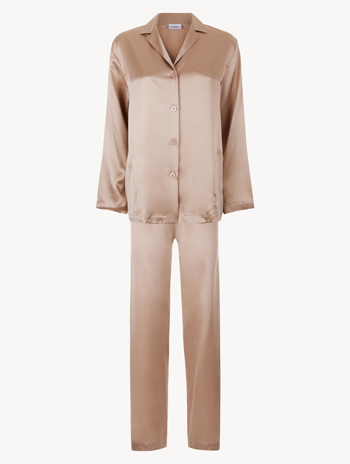 Dusty pink silk pyjama set